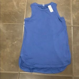Tank top with gathering in back